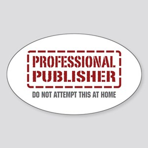 Professional Publisher Oval Sticker