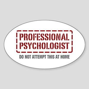Professional Psychologist Oval Sticker