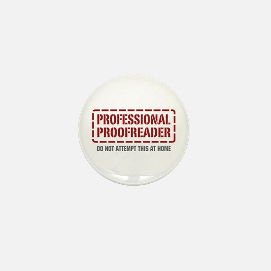 Professional Proofreader Mini Button
