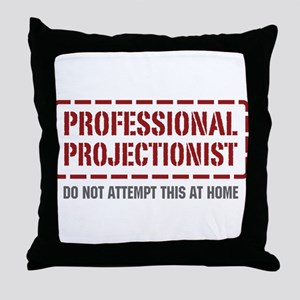 Professional Projectionist Throw Pillow