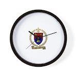 BROCHU Family Crest Wall Clock