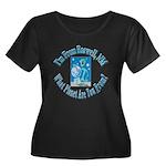 Roswell Women's Plus Size Scoop Neck Dark T-Shirt