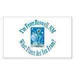 Roswell Rectangle Sticker 50 pk)