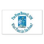 Roswell Rectangle Sticker 10 pk)