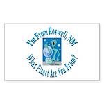 Roswell Rectangle Sticker 10 pk)
