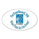 Roswell Oval Sticker (10 pk)