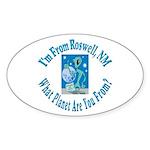 Roswell Oval Sticker (10 pk)