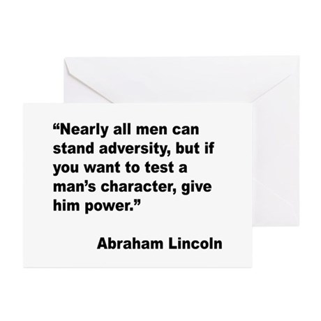 Abraham Lincoln Power Quote Greeting Cards (Pk of