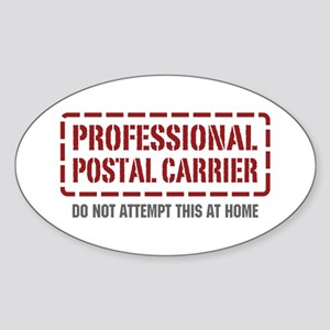 Professional Postal Carrier Oval Sticker