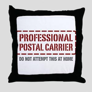 Professional Postal Carrier Throw Pillow