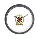 BROUSSARD Family Crest Wall Clock