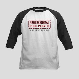 Professional Pool Player Kids Baseball Jersey
