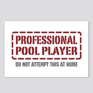 Professional Pool Player Postcards (Package of 8)