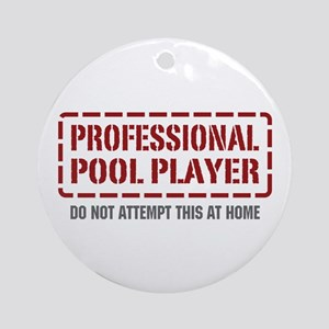Professional Pool Player Ornament (Round)