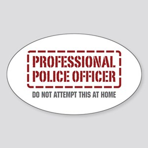 Professional Police Officer Oval Sticker