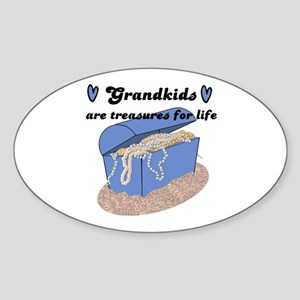 GRANDKIDS ARE TREASURES FOR LIFE! Oval Sticker