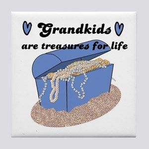 GRANDKIDS ARE TREASURES FOR LIFE! Tile Coaster