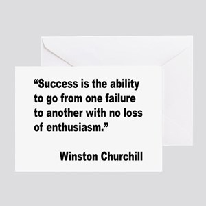Churchill Success Quote Greeting Card