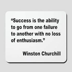 Churchill Success Quote Mousepad