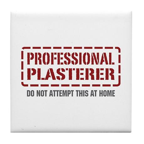 Professional Plasterer Tile Coaster