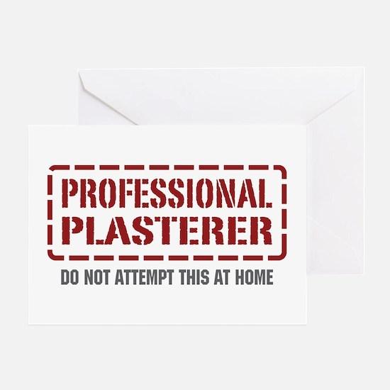 Professional Plasterer Greeting Card