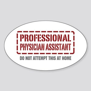 Professional Physician Assistant Oval Sticker