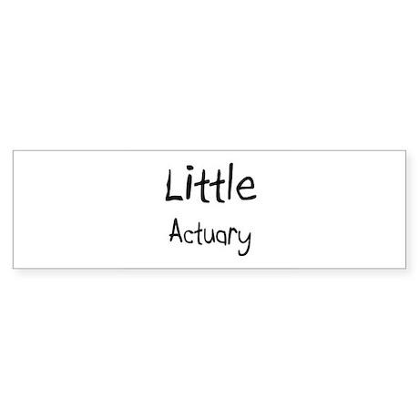 Little Actuary Bumper Sticker