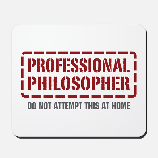 Professional Philosopher Mousepad