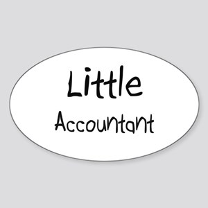 Little Accountant Oval Sticker