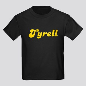 Retro Tyrell (Gold) Kids Dark T-Shirt