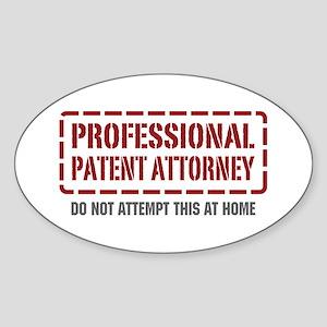 Professional Patent Attorney Oval Sticker