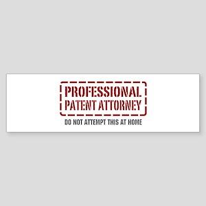 Professional Patent Attorney Bumper Sticker
