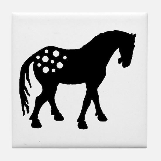 Cute Appaloosa Tile Coaster