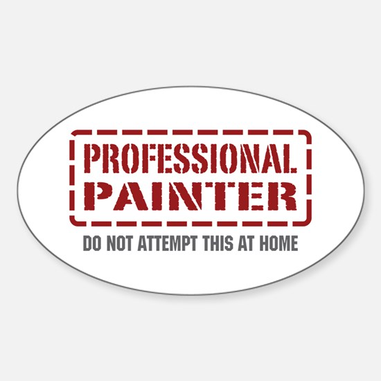 Professional Painter Oval Decal