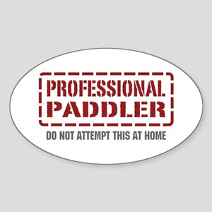 Professional Paddler Oval Sticker