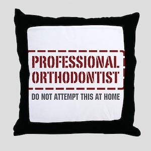 Professional Orthodontist Throw Pillow