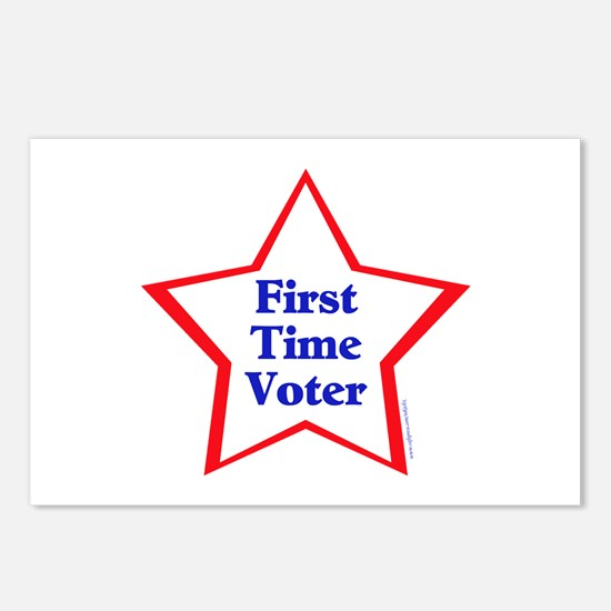 First Time Voter Star Postcards (Package of 8)