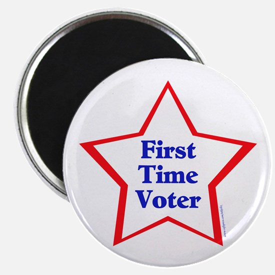 """First Time Voter Star 2.25"""" Magnet (10 pack)"""