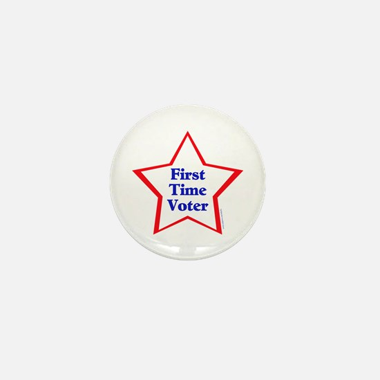 First Time Voter Star Mini Button