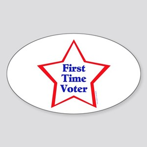 First Time Voter Star Sticker (Oval)