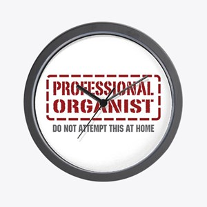 Professional Organist Wall Clock