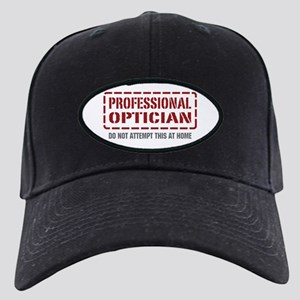 Professional Optician Black Cap