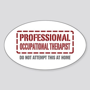Professional Occupational Therapist Oval Sticker