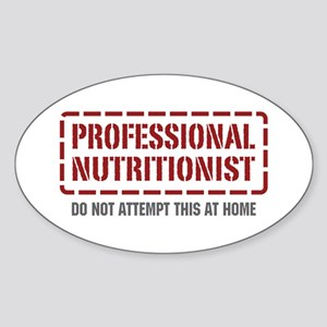 Professional Nutritionist Oval Sticker