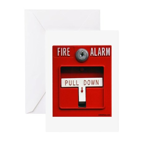 FIRE ALARM Greeting Cards (Pk of 10)