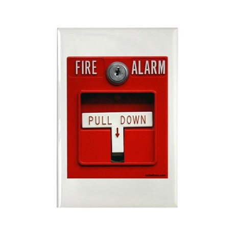 FIRE ALARM Rectangle Magnet (100 pack)
