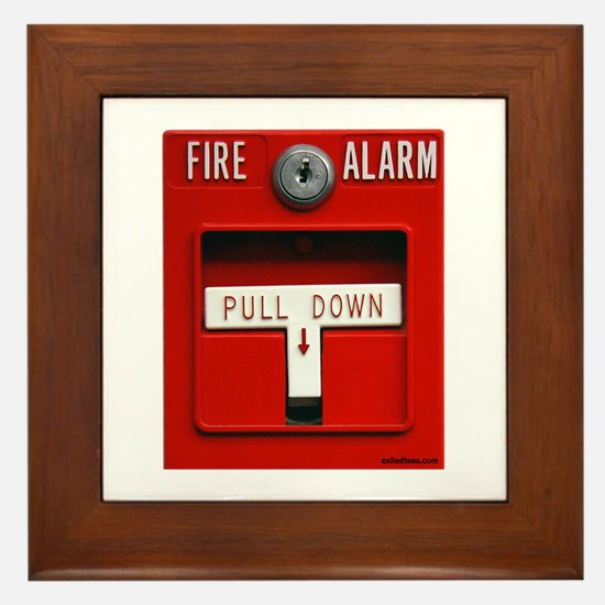 FIRE ALARM Framed Tile