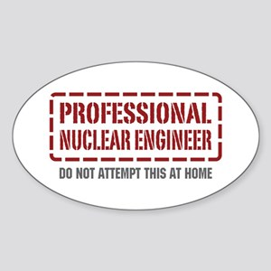 Professional Nuclear Engineer Oval Sticker