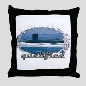 qualified submariner Throw Pillow