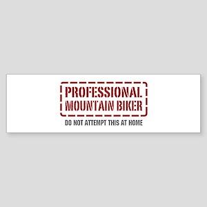 Professional Mountain Biker Bumper Sticker